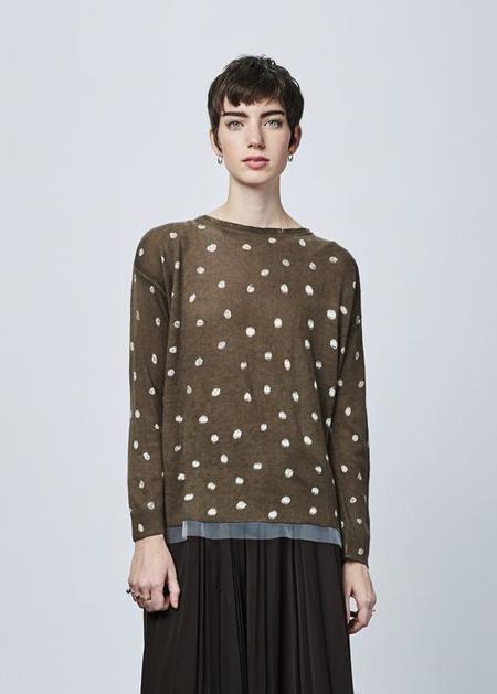 Yoshi Kondo Urban Back-Button Sweater - dark taupe