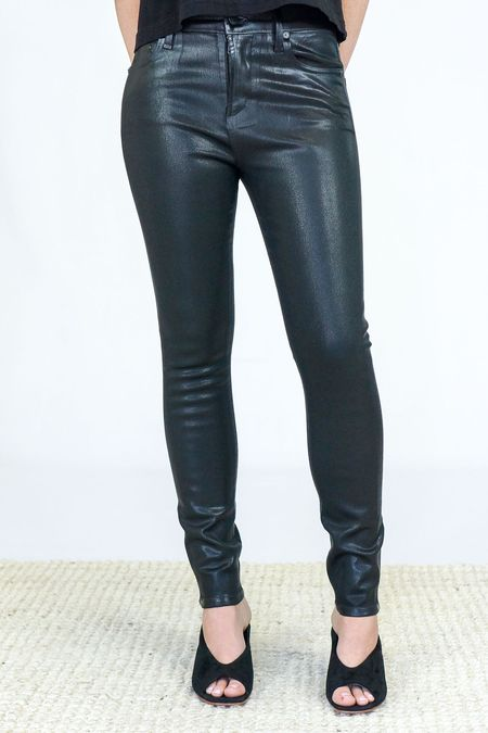 Citizens Of Humanity Leatherette Rocket High Rise Skinny Pants - BLACK