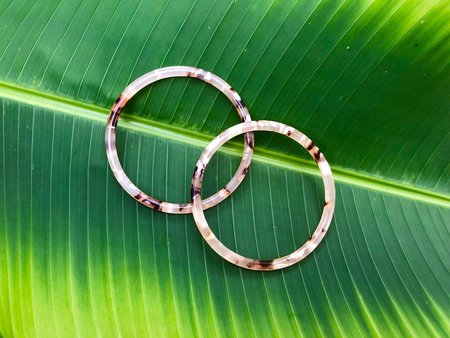 Machete Bangle Bracelet - Blush Tortoise