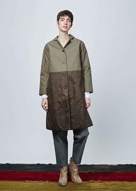 Yoshi Kondo Ace Overcoat - olive drab