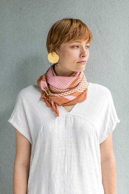 Block Shop Textiles Bernadette Square Scarf - Sienna