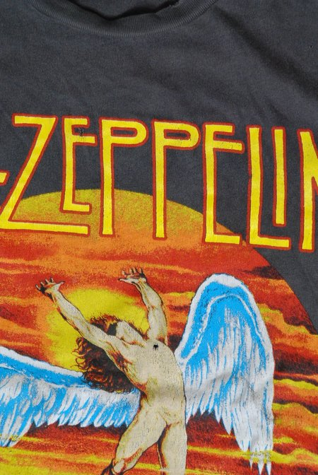 Unisex MadeWorn Led Zeppelin U.S. Tour 1975 T-shirt - Black Pigment