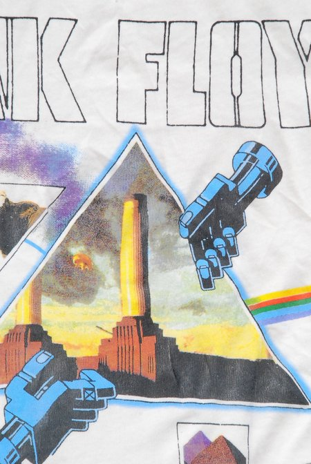Unisex MadeWorn Pink Floyd T-shirt - Dirty White