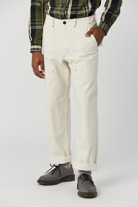 House Of St. Clair Plant Double Knee Pant - Pearl