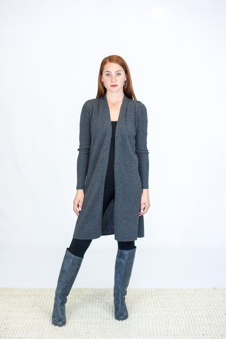 Skin Guila Cashmere Cardigan - Charcoal Heather Grey