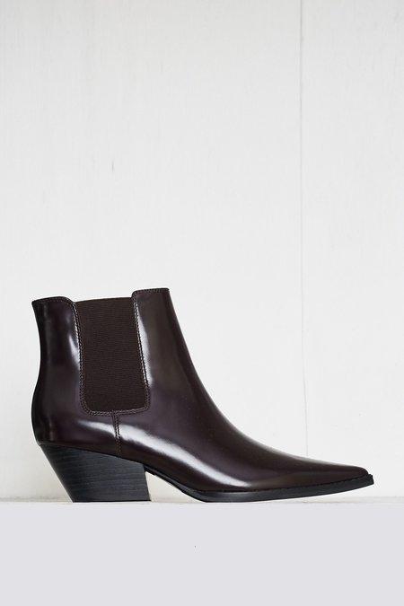 """INTENTIONALLY __________."" Varsity Boot - Dark Brown"