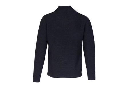 Schott Athletic V Neck Sweater - Black