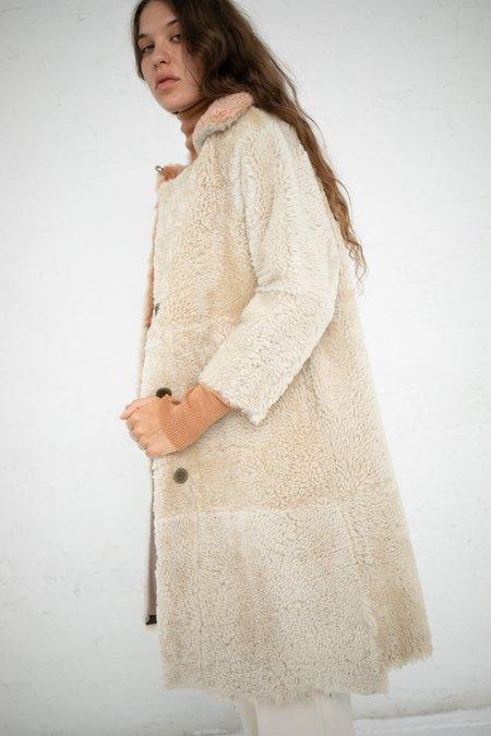 Milena Silvano Sexton Coat - Oat/Sunrise Pink