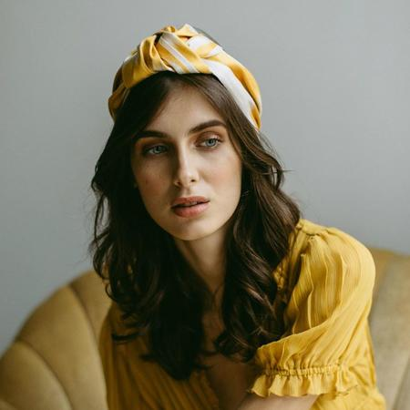 Jennifer Behr Ikat marin turban
