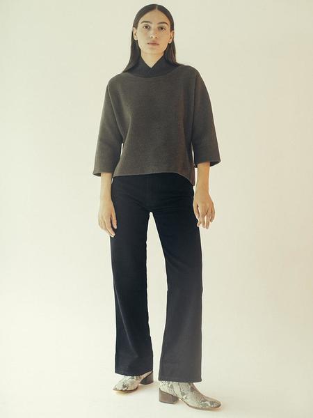 Unisex Eckhaus Latta Classic Wide Leg Jean - Black
