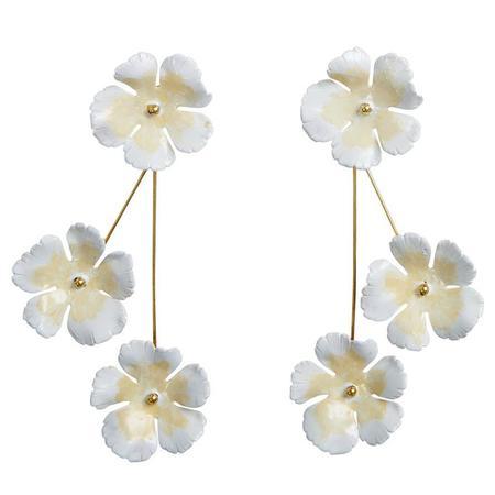 Jennifer Behr Poppy earrings - Champagne