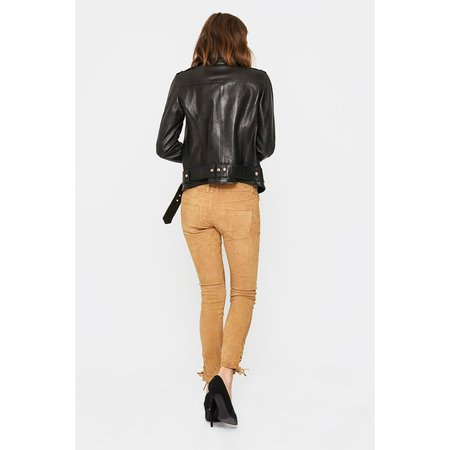 Anine Bing Vintage Leather Jacket - BLACK