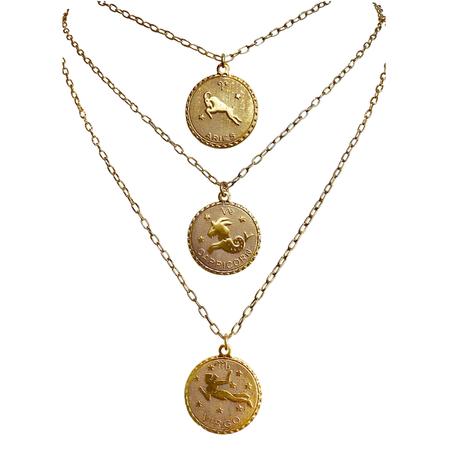 Martha Calvo Zodiac Necklace - 14k Gold