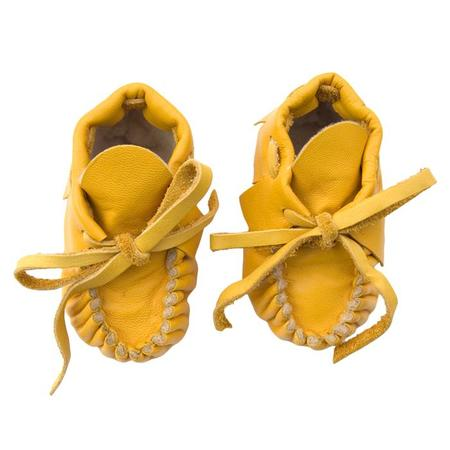 KIDS Manimal Baby Booties - Marigold Yellow