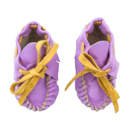 KIDS Manimal Baby Booties - Orchid Pink With Marigold Yellow Laces