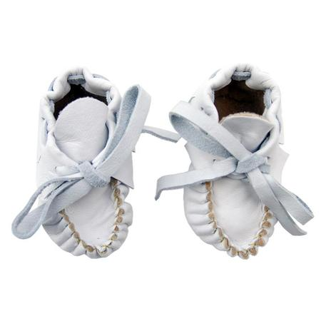 KIDS Manimal Baby Booties - Soft White