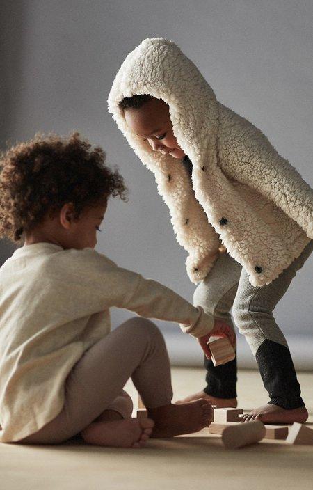 Unisex Kids Bacabuche Soft Teddy Hoodie - Milk