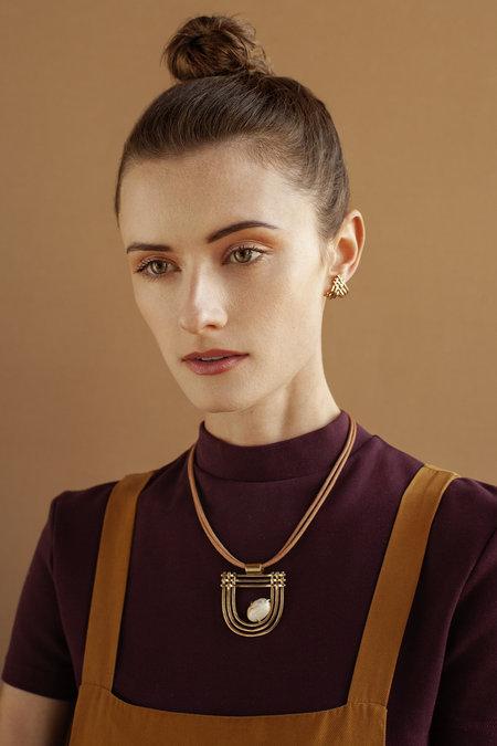 Lindsay Lewis Dreamer Necklace - BRASS