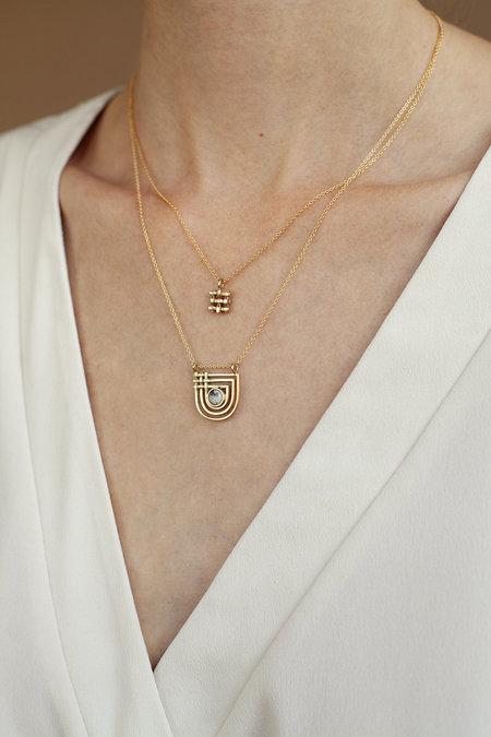 lindsay lewis Crosshatch Necklace