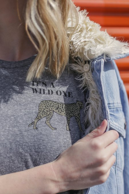 LNA Wild One Tee - Heather Grey