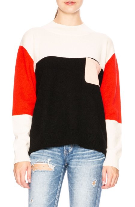 Chinti and Parker Color Block Turtleneck