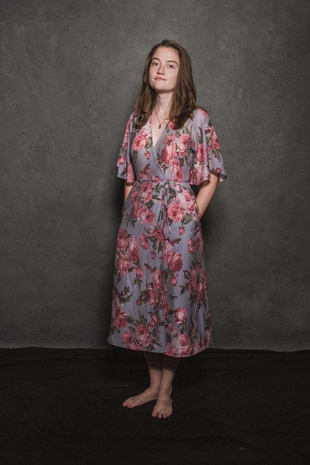 CONRADO April Wrap Dress - Pink Floral