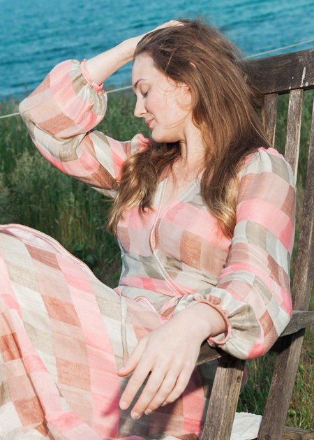 CONRADO May Wrap Dress - Pink/Green