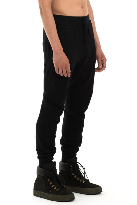 Forme d'Expression Blousoned Curved Leg Pants - BLACK