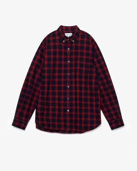 Penfield Corey Brushed Flannel Check Shirt - Red