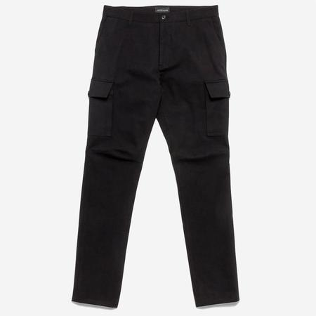 Outclass Attire Brushed Twill Expedition Cargo Pants - Black