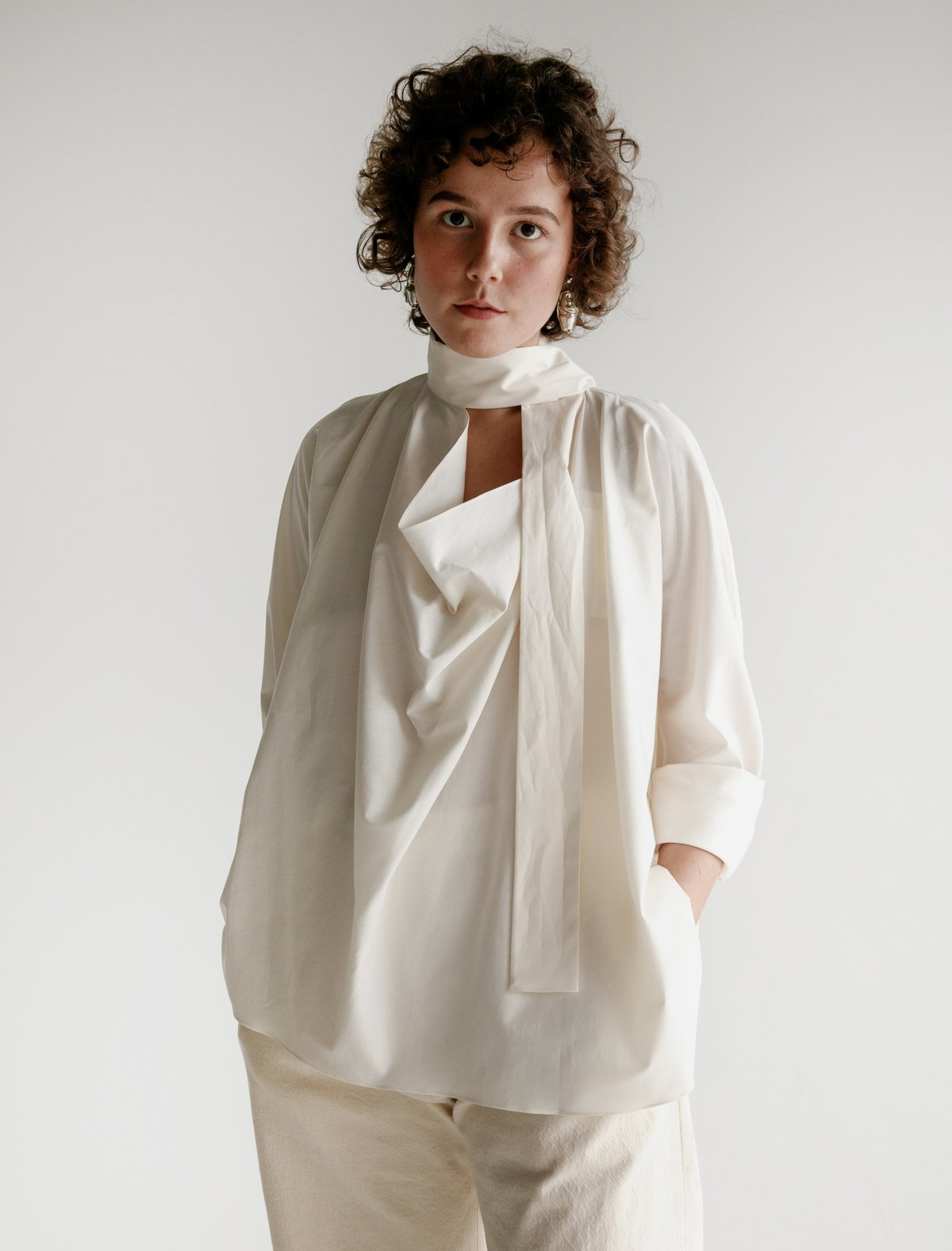 dc9e31977be7d7 Lemaire Ties Blouse - Cream