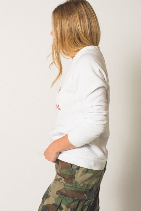 """Preservation """"It's Only Rock and Roll"""" Eco Fleece Sweatshirt - White"""