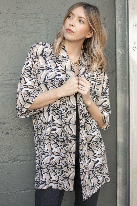 Sway and Cake Kumi Kimono - Beige Animal