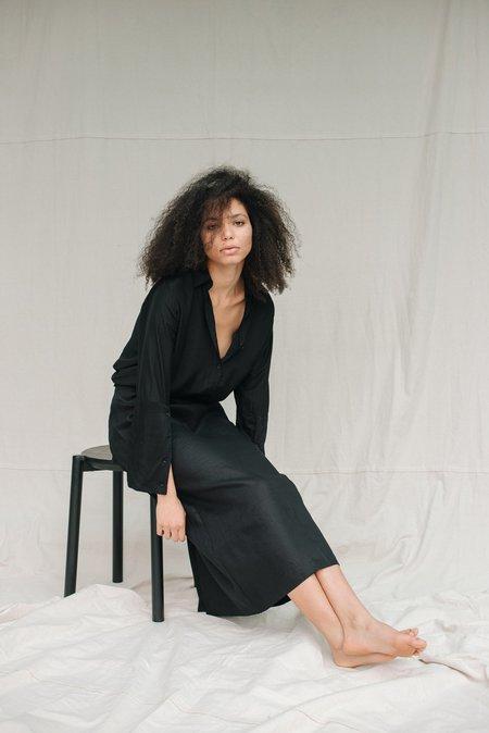 Mina Wanda Skirt - Black Bamboo Silk