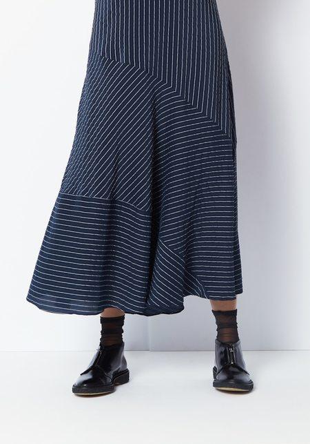 Ganni Lynch Seersucker Dress - Total Eclipse