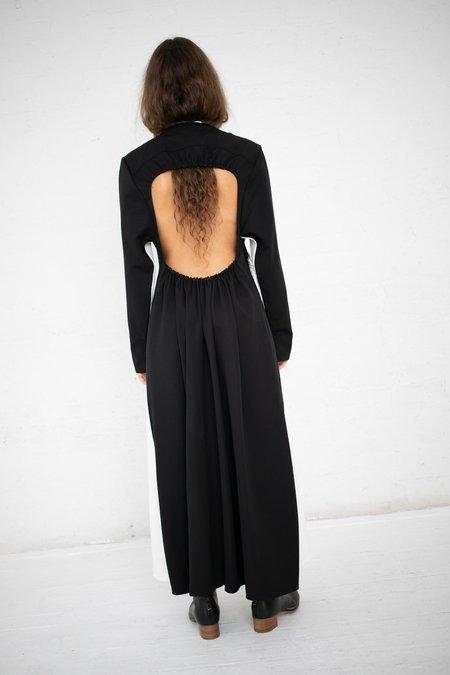 Yulia Kondranina Contrast Long Dress - White/Black