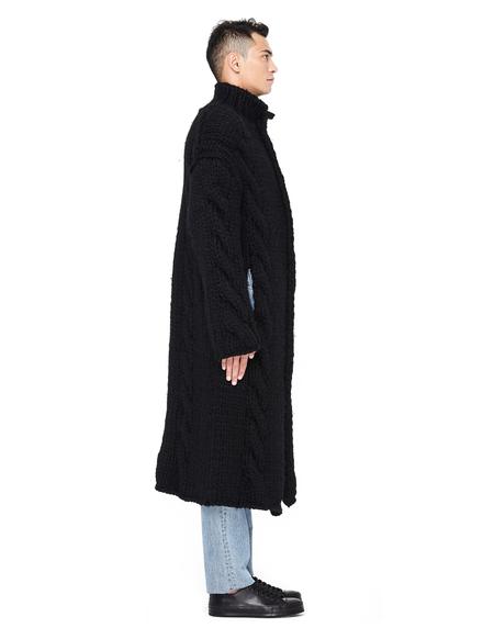 Yohji Yamamoto Chunky Knit Long Cardigan Coat