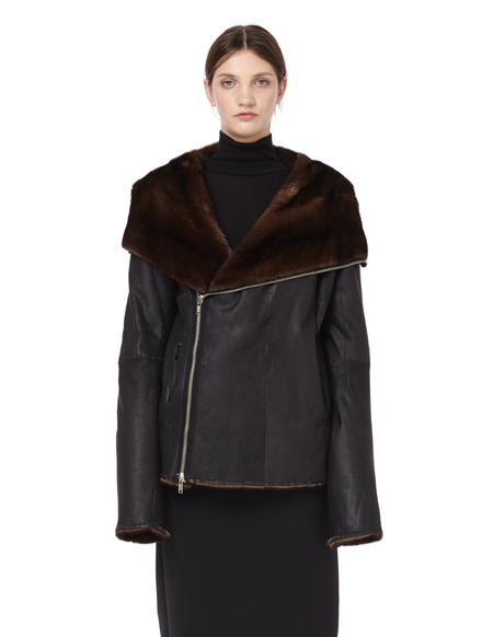 HUN Rick Owens Mink Fur Jacket