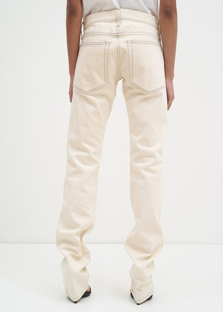 Helmut Lang Masc Lo Drainpipe Jeans - Beige