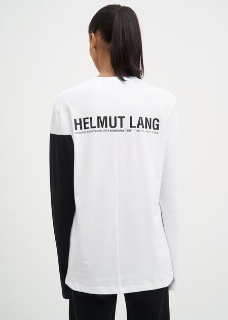 Helmut Lang Band Logo Long Sleeve t-shirt - White/Black