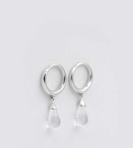 Luz Ortiz Quartz Tear Drop Earrings
