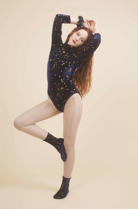 Samantha Pleet Celestial Bodysuit in Midnight