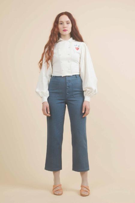 Samantha Pleet Chorus Jeans in Ultramarine