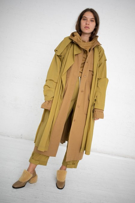 Nehera Two-Piece Worker's Trench Coat - Ocre/Mustard