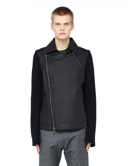 L.G.B. Leather Zipped Jacket - Black