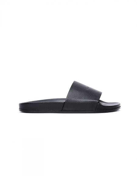 Vetements Textured Leather Slides - Black