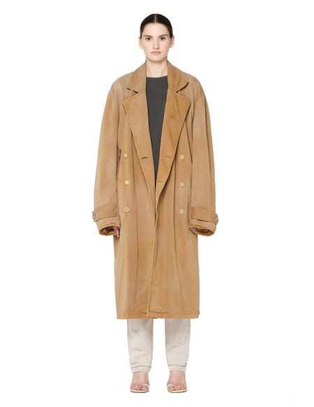 Unisex Yeezy Sand Cotton Oversized Trench Coat - Beige