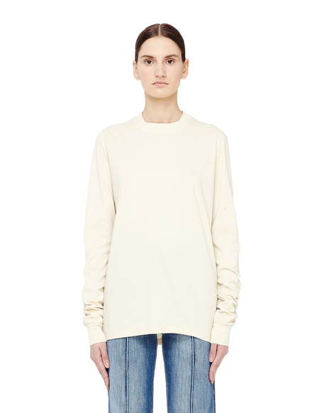 DRKSHDW by Rick Owens Crewneck Cotton Long Sleeve T-shirt - Beige