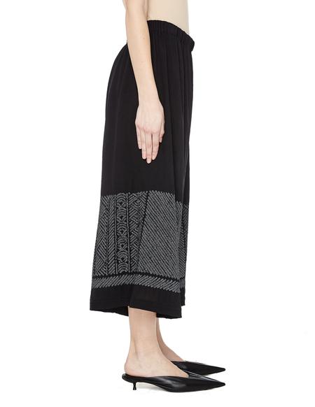 Blackyoto Cropped Silk Trousers - BLACK