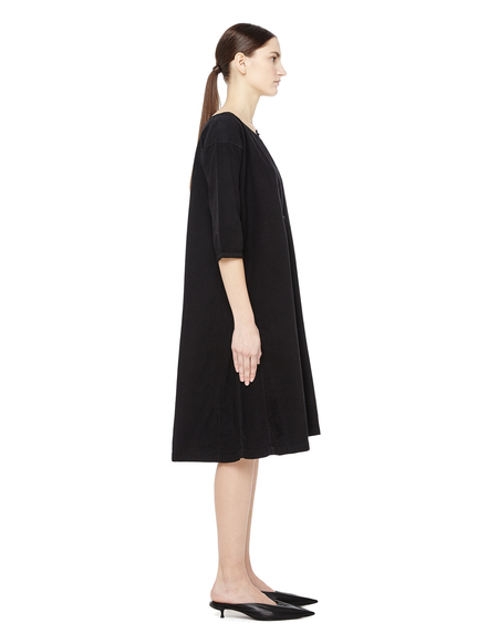 Blackyoto V-neck Mini Dress - BLACK